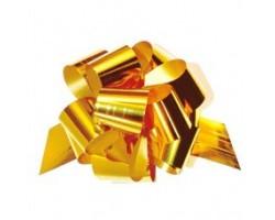 Бант шар 324/75 32мм металл золотой шт.
