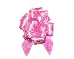 Бант шар 322/06-61 32мм цветы розовые шт.