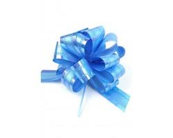 Бант шар 326-40 32мм двойной перламутр голубой шт.