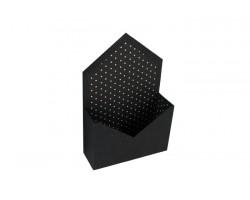 Коробка для цветов Конверт 20*7*30см в горошек черный+белый