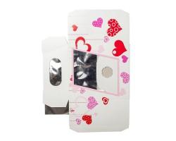 Коробка для орхидей с пробиркой Hearts розовый