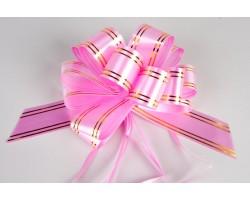 Бант шар с золотой полосой 32 розовый шт.