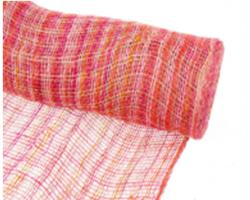 Упак.материал Джут микс 48см*9м fuchsia pink